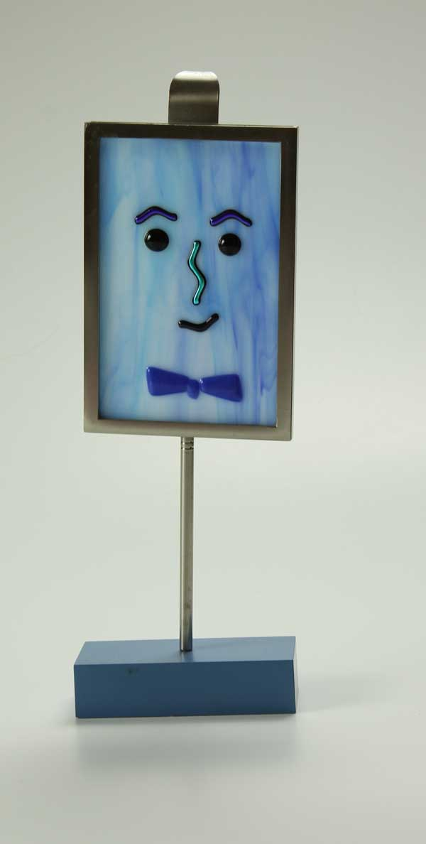 Mr. Blues, fused glass by Diane C. Taylor