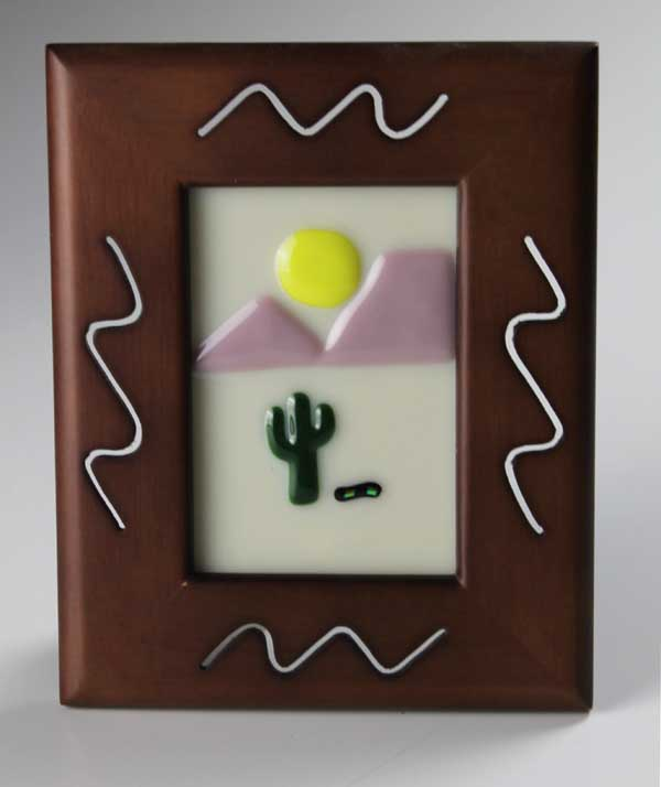 Desert Sun No. 3, fused glass by Diane C. Taylor