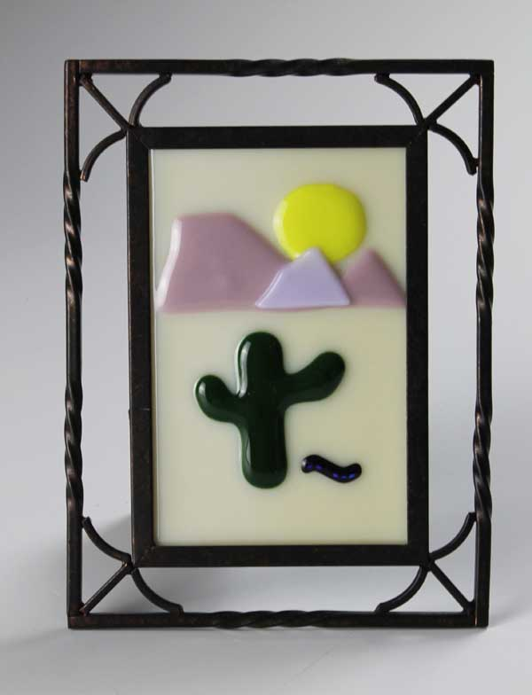 Desert Sun No. 5, fused glass by Diane C. Taylor