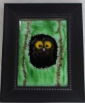 Whooo? No. 6, fused glass by Diane C. Taylor