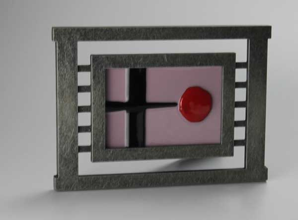 Zen, an Asian-influenced fused glass piece by Diane C. Taylor