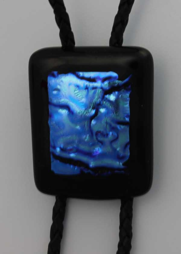 Fused glass bolo tie by Diane C. Taylor